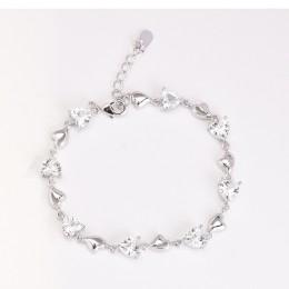 Bague Ringen bransoletki dla kobiet utworzono akwamaryn 925 srebro Charm bransoletki Party prezenty na rocznicę biżuteria