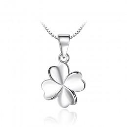 Sodrov autentyczne 925 Sterling Silver czterolistna koniczyna naszyjnik charms panie biżuteria na szczęście