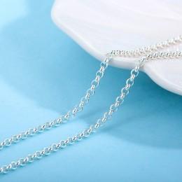 SA SILVERAGE S925 srebrny naszyjnik 16/18 Cal S925 srebro dopasowanie łańcucha akcesoriów