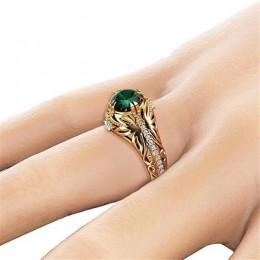 14K złoty diament szmaragdowy obrączka ozdobna biżuteria Etoile Anillos diament Bizuteria dla kobiet jadeit szmaragdowy 14K kami