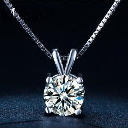 Nowe oryginalne 925 Sliver kryształy z Swarovskis Choker naszyjniki Fine Jewelry dla kobiet akcesoria imprezowe