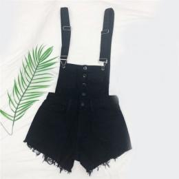 CbuCyi moda denimowe fartuchy dla kobiet kombinezon kobiet Denim pajacyki damskie Playsuit Salopette pasy kombinezony szorty paj
