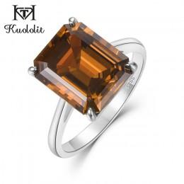 Biżuteria damska srebrny pierścionek z kolorowym brylantem na palec dla dziewczyny młodzieżowy kobiecy