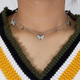 Małe zwierzę motyl gwiazdy łańcuszek naszyjniki dla kobiet gorąca sprzedaż złoty kolor srebrny łańcuszek do obojczyka naszyjniki