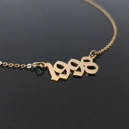 1985 do 2019 numer data urodzenia naszyjnik spersonalizowane biżuteria na zamówienie 1993 1994 1995 1996 1997 1998 1999 2000 Col