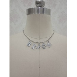 Harajuku list kryształowy naszyjnik z aniołem kobiety biżuteria prezent dla par naszyjnik dziecko miód Choker Femme Punk Collier