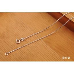 Fanqieliu 6 Style prawdziwe 925 Sterling Silver naszyjniki Slim cienki wąż naszyjnik łańcuszkowy kobiety ciało Box łańcuch dla k