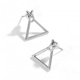 ZYZQ Fashion nieregularne geometryczne kolczyki wkręty damskie zaskoczony prezent urodzinowy dla Bestie wzór w trójkąta prosty t