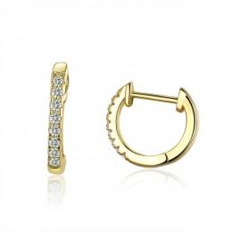 WOSTU autentyczne 925 srebro 6 kolor kółko Hoop kolczyki dla kobiet moda ślubna szlachetna biżuteria prezent FIE498