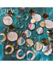 17KM Vintage akrylowe geometryczne powłoki Dangle kolczyki dla kobiet okrągłe małe spadek kolczyk 2020 nowy projekt wiosna i biż