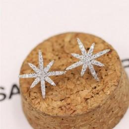 925 srebro nie alergiczny Temperament moda mikro-inkrustowane cyrkon akcesoria kryształowe kobiece kolczyki podkreślające osobow