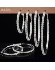 BLIJERY Fashion pełny kryształ górski koło kolczyki klasyczne duże okrągłe kolczyki srebrny/kryształ w złotym kolorze kolczyki H