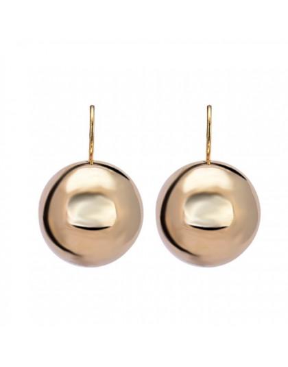 HONGYE złoty kolor srebrny duże wiszące kolczyki dla kobiet moda biżuteria okrągła kula zwisające kolczyki femme Bijoux Brincos