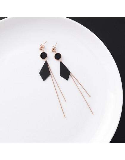 2019 koreański stal stalowe kolczyki geometryczne kolczyki dla kobiet długi dynda Brincos ucha biżuteria pendientes mujer dziewc