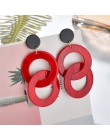 2019 nowe żywiczne akrylowe Drop Dangle kolczyki dla kobiet artystyczne geometryczne czerwone modne wisiorek kolczyki biżuteria
