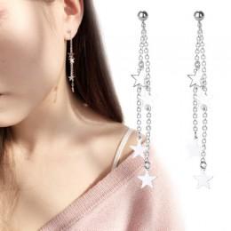 925 srebro gwiazda okrągły urok spadek kolczyki dla kobiet ślub srebro biżuteria Bijoux eh1184