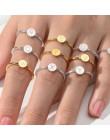 List pierścionek obrączki dla par ze stali nierdzewnej dla kobiet palec kobieta pierścień list zestaw zaręczynowy miłość złoto s