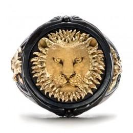 FDLK unikalna moda męska czarny pierścień afryka użytki zielone lew biżuteria dzień ojca prezent na rocznicę bankiet obrączki