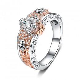 2019 europejska amerykańska projekt pierścienie czaszki dla kobiet mężczyzn Gothic biżuteria punkowa kwiat serce CZ kryształ pal