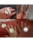 Bohemia duży okrągły pierścień fala kobiety mężczyźni Punk przesadzone Trendy pierścionki retro prosta biżuteria elastyczna regu