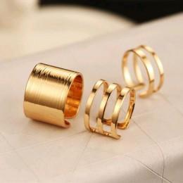 VKME 3 szt./Zestaw. Modny top palca nad palcem końcówki Midi powyżej Knuckle otwarty pierścień dla kobiet moda biżuteria R3
