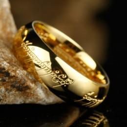 Wysokiej jakości złote kolorowe pierścienie dobry prezent ze stali nierdzewnej jeden pierścień mocy biżuteria dla kobiet mężczyz