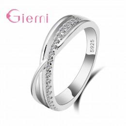 Cyrkonia pierścionki dla kobiet wypełniony kryształ typu Trendy moda 925 srebro pierścionki biżuteria biżuteria hurtowych