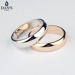 Dan's Element marka prawdziwe okrągłe proste para miedziane złote kolor moda obrączki dla kobiet zdrowe Top Quality Fi-RG90696