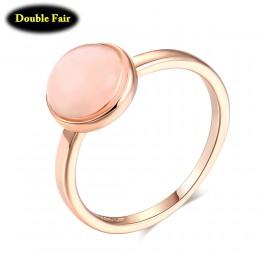 Najwyższa jakość różowe złoto kolor Opal księżycowy kamień pierścienie moda marka Party/biżuteria ślubna dla kobiet sprzedaż hur