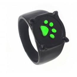 Hanreshe Anime czarny kot pierścionki dziewczyna chłopiec biedronka kreskówka zielona emaliowana miłość pierścień łapa drukuj Tr