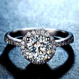 Solidna 925 srebro efekt aureoli żółty różowy dla kobiet ślub zaręczyny zironia finger prezenty klasyczne spersonalizowane R210