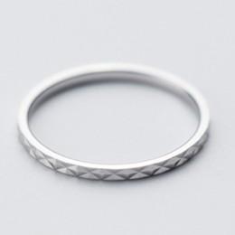 100% prawdziwa czysta 925 Sterling Silver Ring moda proste Glint Gleam piękny pierścionek cienki mały palec serdeczny dla kobiet
