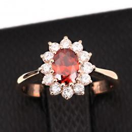 ZHOUYANG księżniczka Kate niebieski klejnot utworzono niebieski kryształ kolor srebrny ślub palec kryształowy pierścień marka bi