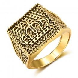 2019 Hot sprzedaży męska pierścionki biżuteria bliski wschód kraju pozłacane Hip Hop/Rock złoto srebro korona na ślub party prez