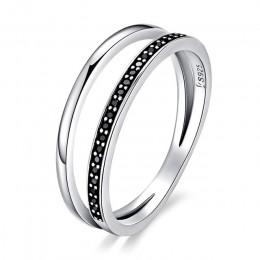 WOSTU gorąca sprzedaż 100% prawdziwe 925 srebro pierścionki dla kobiet kot Rainbow pierścionek na szczęście luksusowe S925 biżut