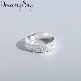 Koreański 925 Sterling Silver proste pierścienie dla kobiet biżuteria zaręczynowa osobowość przesadzone dziewczyny otwarte antyc