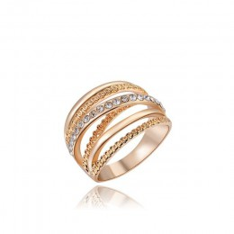 Marka roxi kobiety pierścień różowe złoto kolor Finger obrączki dla kobiet obrączki anillos biżuteria do ciała rozmiar 6 7 8 9 1