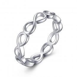 OCTBYNA oferta specjalna kolor srebrny Pan palec serdeczny wieżowych strona oryginalny pierścionek dla kobiet zaręczyny biżuteri