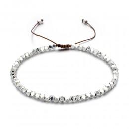 ZMZY Handmade splot koraliki bransoletki Bohemia Seed cienkie bransoletki i Bangles kobiety biżuteria plażowa regulowane Charms