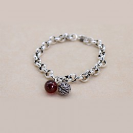 XIYANIKE 925 Sterling Silver hollow bell chain bransoletka ślubna na przyjęcie wyrazista biżuteria dla kobiet modna bransoletka