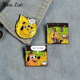 To jest dobrze emaliowane szpilki niestandardowe kreskówki broszki z psami przypinka worek na koszulę śmieszne naszywka zwierzę