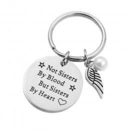 """VILLWICE Best friends brelok brelok """"nie siostry przez krew, ale siostry przez serce"""" biżuteria przyjaźni prezent dla kobiet dzi"""