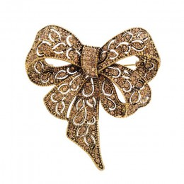 Cindy xiang kolor czarny Rhinestone Bow broszki dla kobiet duża broszka z kokardką Pin Vintage biżuteria akcesoria zimowe