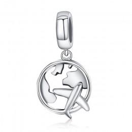 Gorąca sprzedaż oryginalna 100% 925 Sterling Silver wisiorek urok dynda Fit oryginalna bransoletka naszyjnik z autentycznych kor