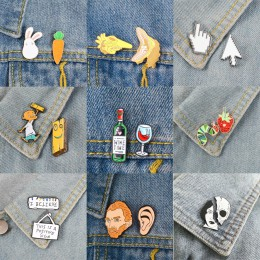 2 sztuk/zestaw broszki i szpilki czas wina PS AI kursor ikona zwierzęcia zestaw artysta Christmas Lights emalia szpilki odznaki