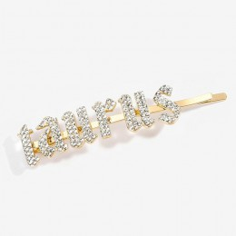 Dostosowane nazwa spinki do włosów dżetów betonowa 12 zodiaku szpilki do włosów i klipsy ślub kryształowy świecący stylizacja dl