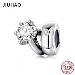 Nowy 925 Sterling Silver Shining pierścień kształt okrągłe koraliki do biżuterii Fit oryginalny Pandora Charms bransoletki makin