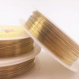 Hurtownie 0.2/0.3/0.4/0.5/0.6/0.7/0.8/1.0mm mosiądz miedziane druty żyłka do nawlekania koralików do tworzenia biżuterii złote k