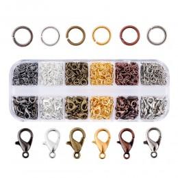 1 Box Assorted mieszane kolor biżuteria DIY dokonywanie ustalenia 120 sztuk 12x7x3mm Alloy Lobster Claw klamrami 30g 5x0.6mm żel