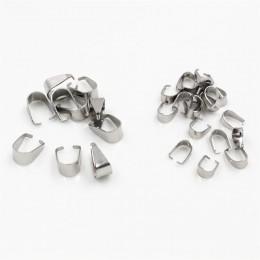100 sztuk ze stali nierdzewnej stalowy wisiorek haczyki zaciski klamrami naszyjnik haki klipy złącze do komponenty do wyrobu biż